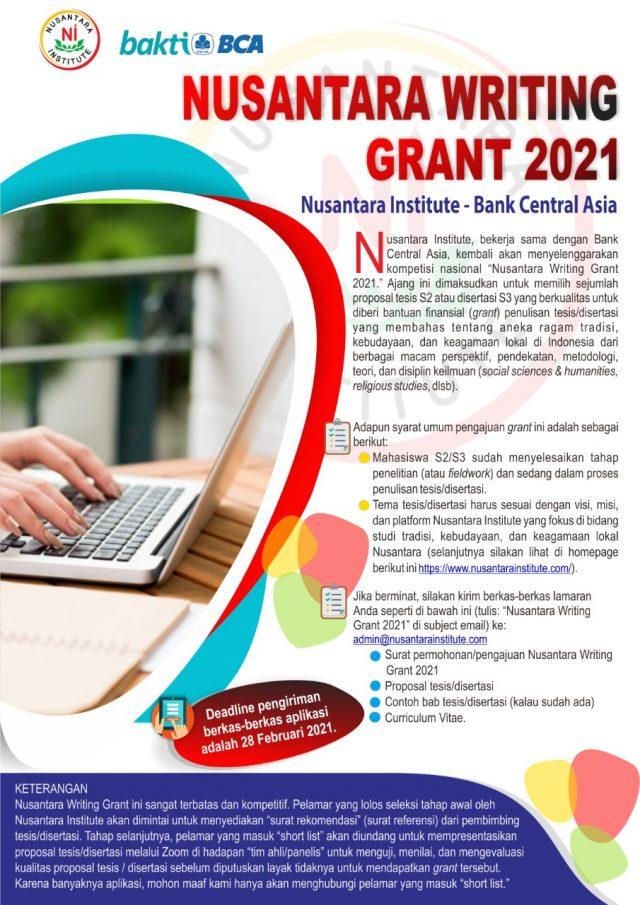 Nusantara Writing Grant 2021