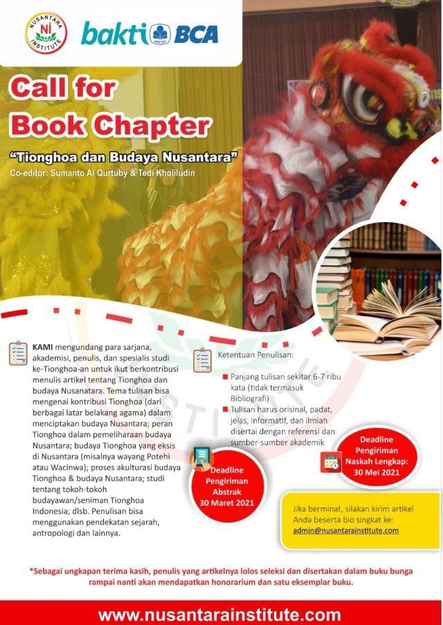 """Call for Book Chapters """"Tionghoa dan Budaya Nusantara"""""""